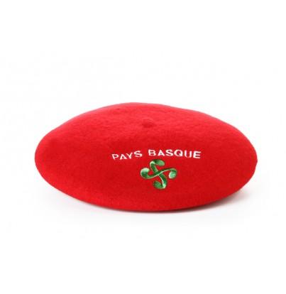 Béret souvenir brodé Croix basque rouge T10