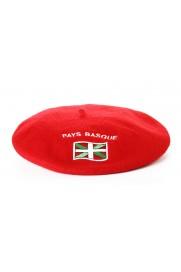Béret souvenir brodé drapeau rouge T11