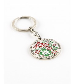 Porte-clés avec Rond Multi Croix Basque Intérieur