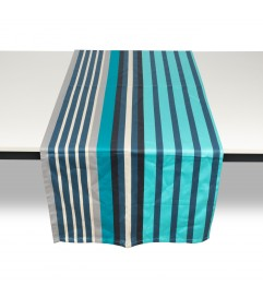 Jeté de table Hendaye turquoise