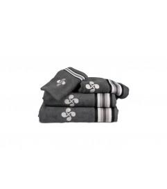 Gant Croix et Rayures grises gris foncé