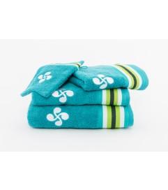 Drap de douche  Ilan turquoise