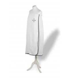 Paréo Croix rayée Blanc