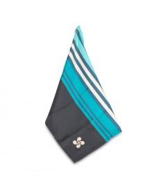 Torchon Hendaye Croix Basque Turquoise coton satiné